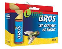 Липкая лента Брос от мух, Bros 4 шт