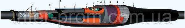 Муфта кабельная соединительная 3СТп-10У 70/120, 6/10 кВ с болтовыми соединителями, фото 2