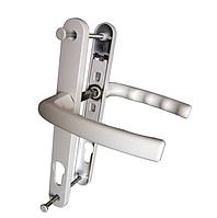 Нажимной гарнитур VORNE 25/85/200 мм з пружиной белый для дверей ПВХ (дверные нажимные ручки)