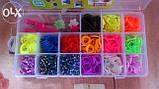 Наборы резинок 1200 шт для плетения браслетов в органайзере. Выбор года., фото 2