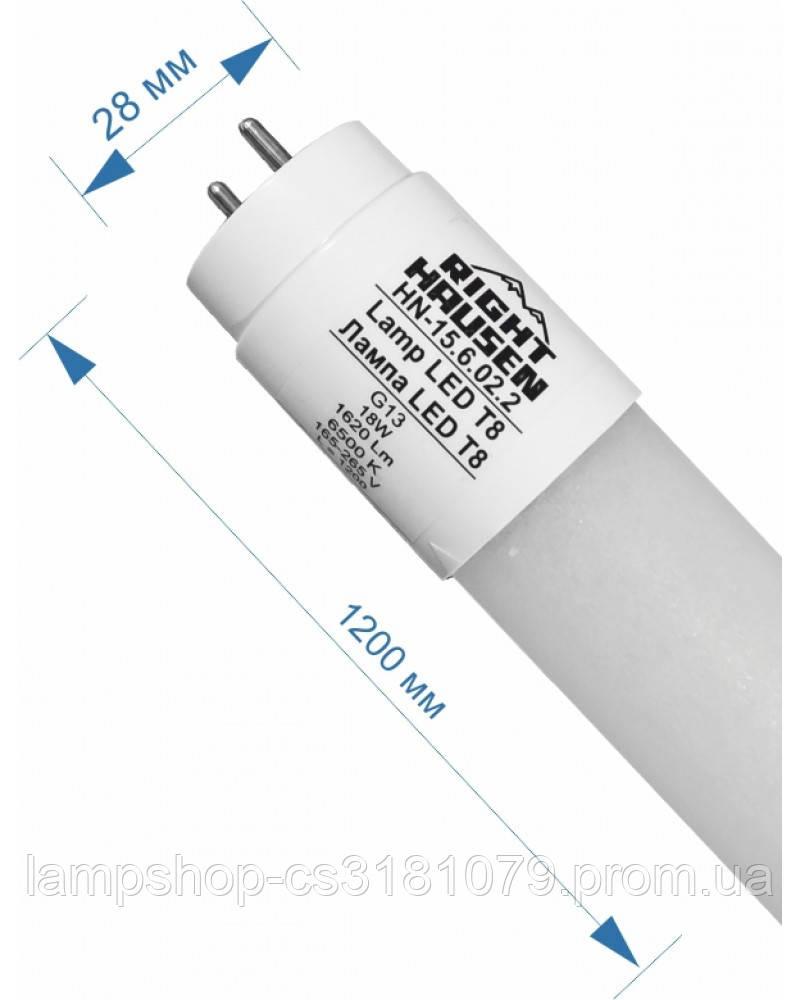 Лампа RIGHT HAUSEN LED T8 NANO PLASTIC 18W 1200mm 6500K G13 HN-156022