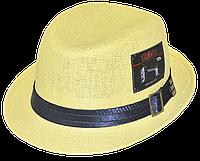Шляпа детская челентанка шеврон солома TRAVEL