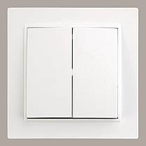 0023 Вимикач LXL AURORA 2-й білий