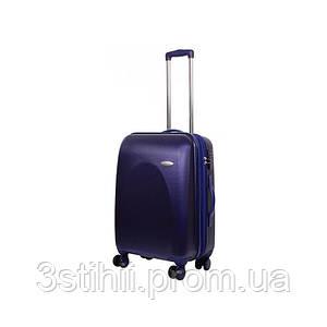 Чемодан дорожный VIP Collection пластиковый G.24 средний на 4-х колесах Синий