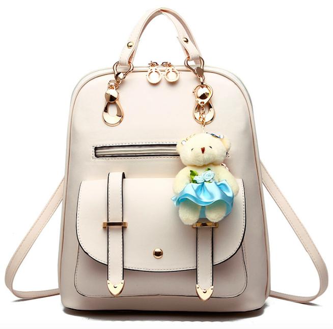 Рюкзак женский кожзам  сумка Sweet Bear Бежевый