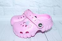 Кроксы для девочки розовые, фото 1