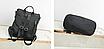 Рюкзак женский кожзам трансформер Braided сумка Синий, фото 6