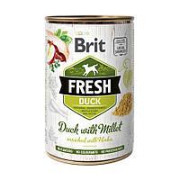 Brit Fresh Duck with Millet консервированный корм для собак с уткой и пшеном 400г
