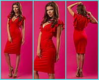 Коктейльное платье длины миди, фото 1