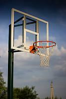 Стойка баскетбольная стационарная (уличная, одна опора), вынос стрелы от45- 60 см