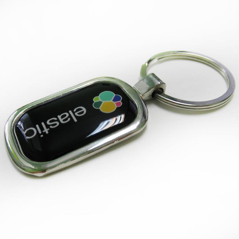 Брелок для ключей металлический с логотипом