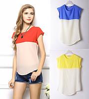 Женская нарядная шифоновая блузка  - 3 цвета!