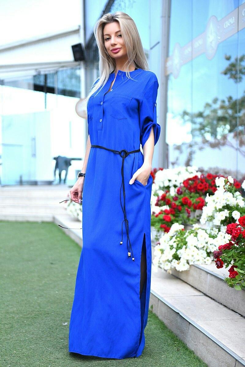 baaaf3fdef5 Длинное платье свободного кроя VM-9080 - Joanna - интернет магазин одежды в  Одессе