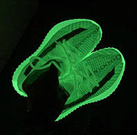 Adidas Yeezy Boost 350 V2 GID / Neon Green | кроссовки женские и мужские; летние/весенние; салатовые; светятся