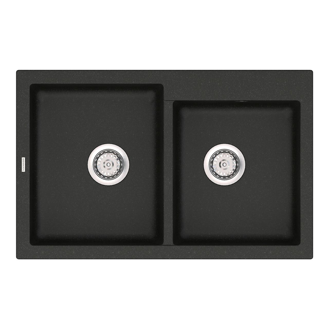 Кухонная мойка кварц 51*80 см VANKOR Orman OMP 05.80 Black