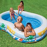 ✅Дитячий надувний басейн Intex 56490 «Райська Лагуна», 262 х 160 х 46 см, фото 2