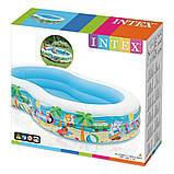 ✅Дитячий надувний басейн Intex 56490 «Райська Лагуна», 262 х 160 х 46 см, фото 4
