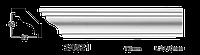 Карниз(плинтус) потолочный гладкий Classic Home 2-0521, лепной декор из полиуретана