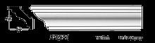 Карниз потолочный гладкий Classic Home 2-0521, лепной декор из полиуретана