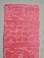 """Набор ковриков для ванной, 60х100 + 60х50см. """"Цветочки и листики"""", цвет розовый"""