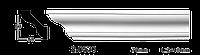 Карниз(плинтус) потолочный гладкий Classic Home 2-0530, лепной декор из полиуретана