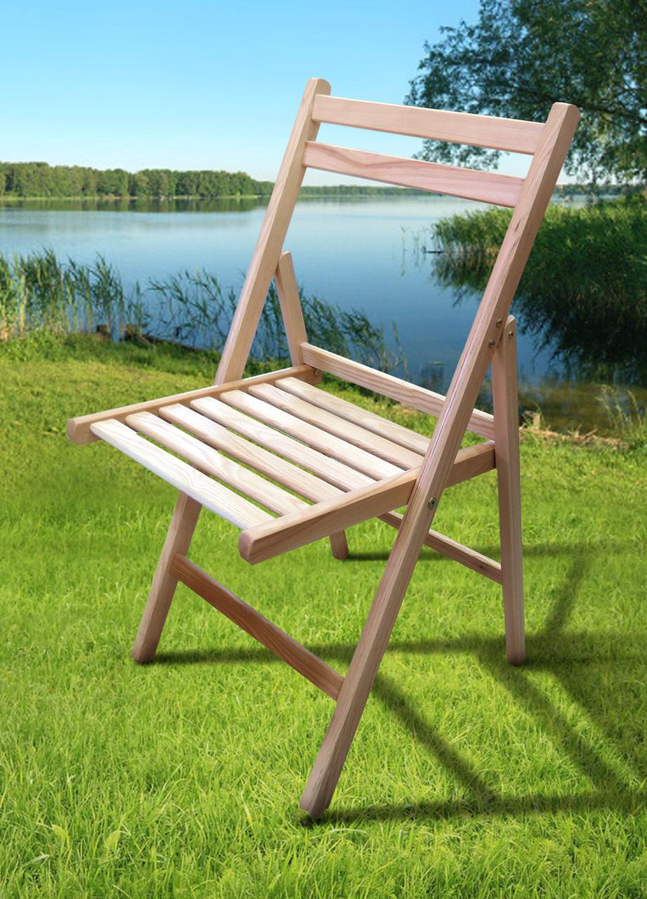 Стул складной деревянный Пикник, цвет натуральный
