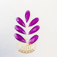 Клеевые неоновые стразы, цвет Neon Purple, размер 8х22мм*1шт