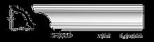 Карниз потолочный гладкий Classic Home 2-0550, лепной декор из полиуретана