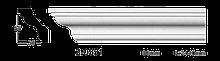 Карниз потолочный гладкий Classic Home 2-0551, лепной декор из полиуретана