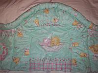 Бампер сплошной- защитный, высокий в кроватку новорожденного, фото 1
