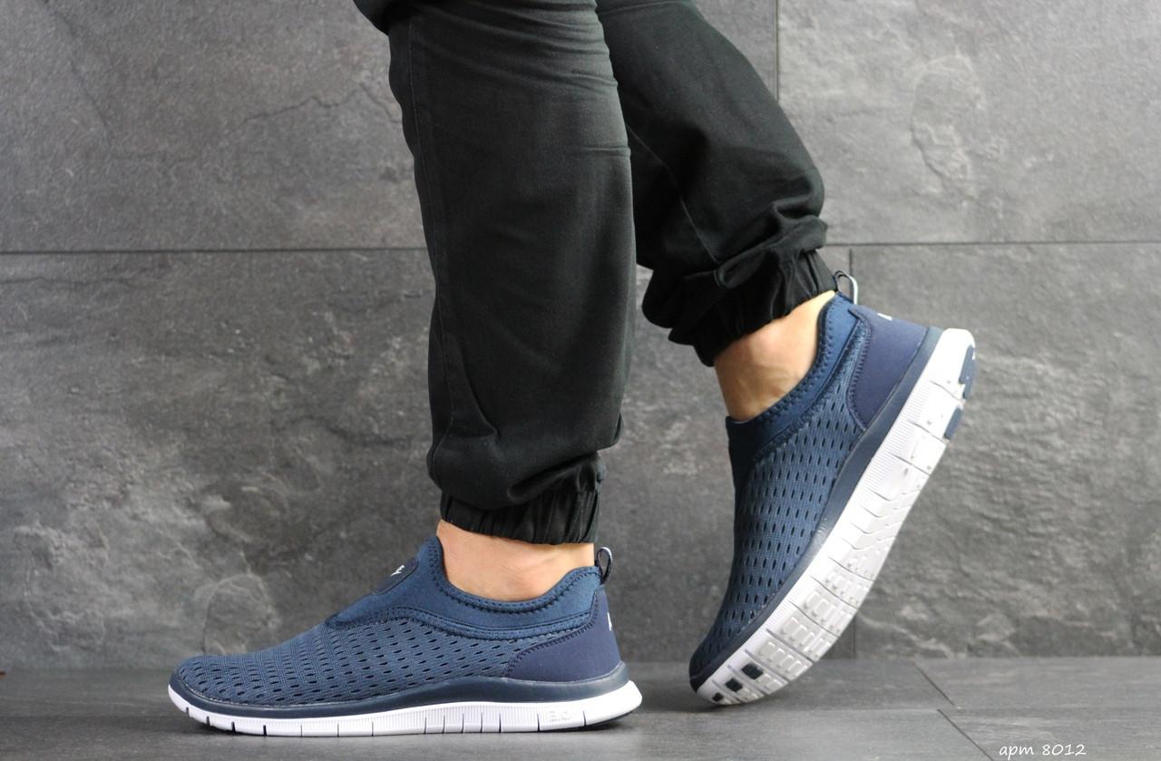 Мужские кроссовки Nike Free Run 3.0 ( сине-белые )
