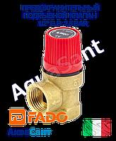 """Предохранительный подрывной клапан FADO 1/2"""" в.в. 2,5 BAR"""