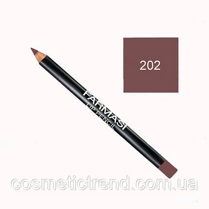 Карандаш контурный для губ деревянный №202 Farmasi Lip Pencil (распродажа), фото 2