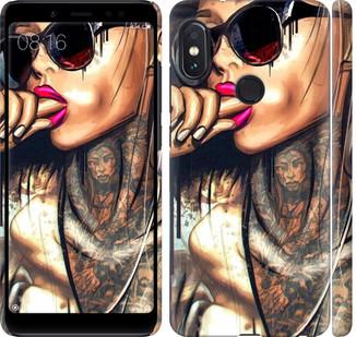 """Чехол на Redmi Note 5 Pro Девушка в тату """"4001c-1353-328"""""""