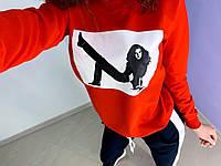 Женский модный спортивный костюм с принтом, р-р 48-50. ТУ-1-1-0619