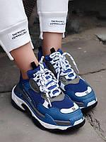 Женские Кроссовки Balenciaga Triple S Blue