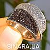 Модное кольцо Waves - Брендовое серебряное кольцо с коньячными фианитами, фото 7