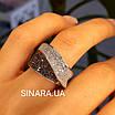 Модное кольцо Waves - Брендовое серебряное кольцо с коньячными фианитами, фото 3