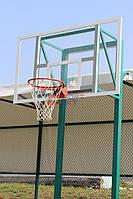 Стойка баскетбольная стационарная (уличная, две опоры), вынос стрелы от 45-60 см  под щит Фиба