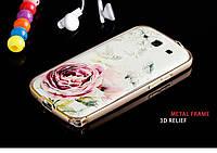 """Samsung G7102 GRAND 2 чехол бампер задняя крышка с принтом риcунком + металлическая рамка для телефона """"ROYAL"""