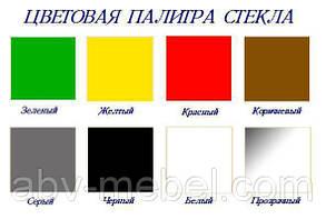 ТВ тумба стеклянная Гензель сплошная покраска, цвет черный 105х48х52 (БЦ-стол ТМ), фото 3