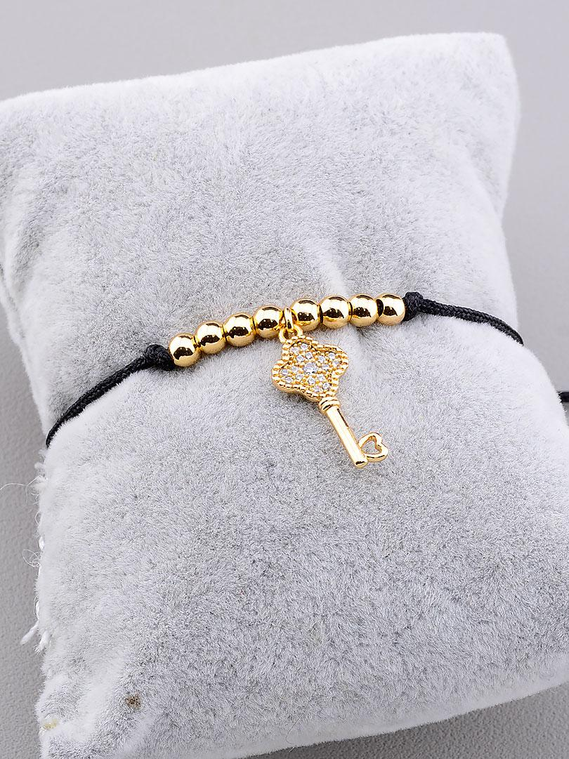 Позолоченный женский браслет на руку с камнями фианитами 17 сантиметров длина XUPING