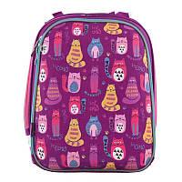 Рюкзак школьный каркасный 1 Вересня H-12 Cute cats (556024), фото 1