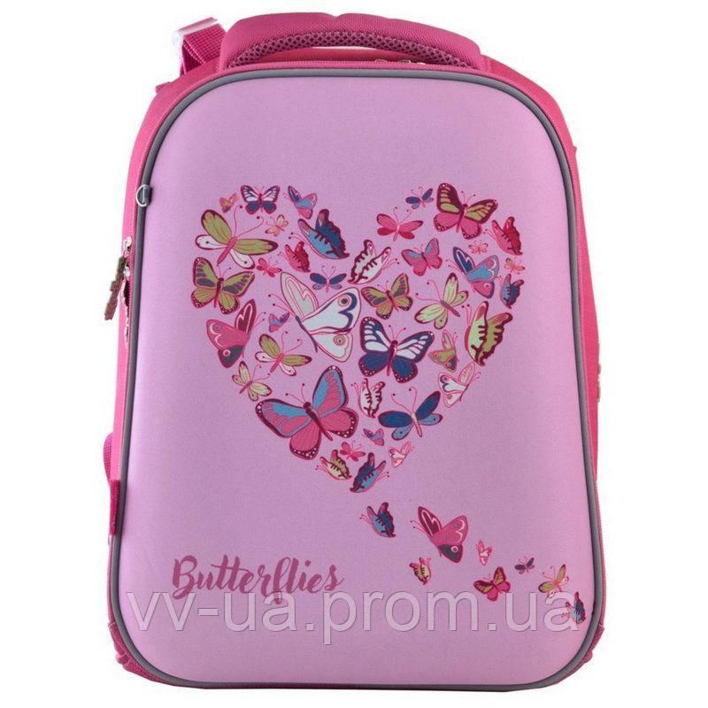 Рюкзак школьный каркасный 1 Вересня H-12 Delicate butterflies (556040)