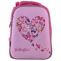 Рюкзак школьный каркасный 1 Вересня H-12 Delicate butterflies (556040), фото 1