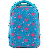 Рюкзак школьный каркасный 1 Вересня H-12 Romantic hearts (556034)
