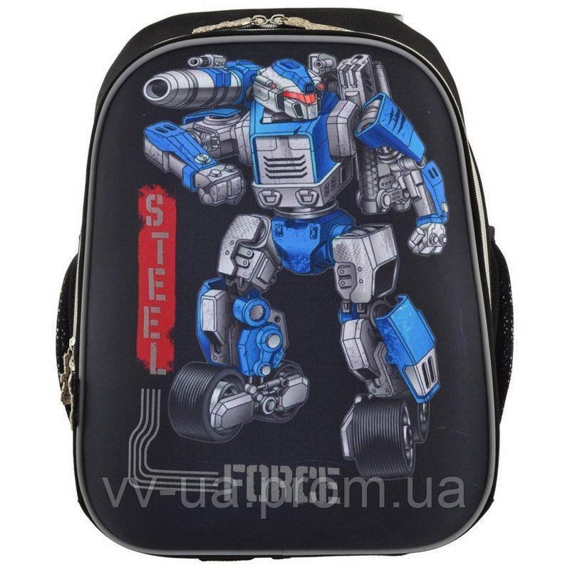 Рюкзак школьный каркасный 1 Вересня H-12 Steel Force (555950)