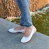 Балетки кожаные на низком ходу, цвет белый/пудра, фото 2
