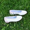 Балетки кожаные на низком ходу, цвет белый/пудра, фото 6