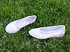 Балетки кожаные на низком ходу, цвет белый/пудра, фото 7